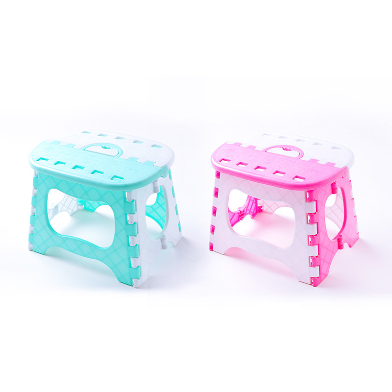 Contracted Contemporary Creative Color Folding Stool Plastic Go Out Portable Small Bench Fishing Stool Household Bathroom Suppli bamboo bamboo portable folding stool have small bench wooden fishing outdoor folding stool campstool train