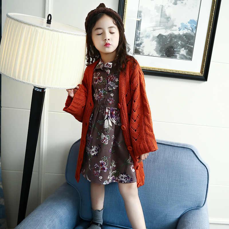 2 предмета; длинный вязаный Тренч для девочек-подростков; сезон весна-осень; пальто для девочек-подростков; детская куртка; Верхняя одежда; модные свитера оранжевого цвета