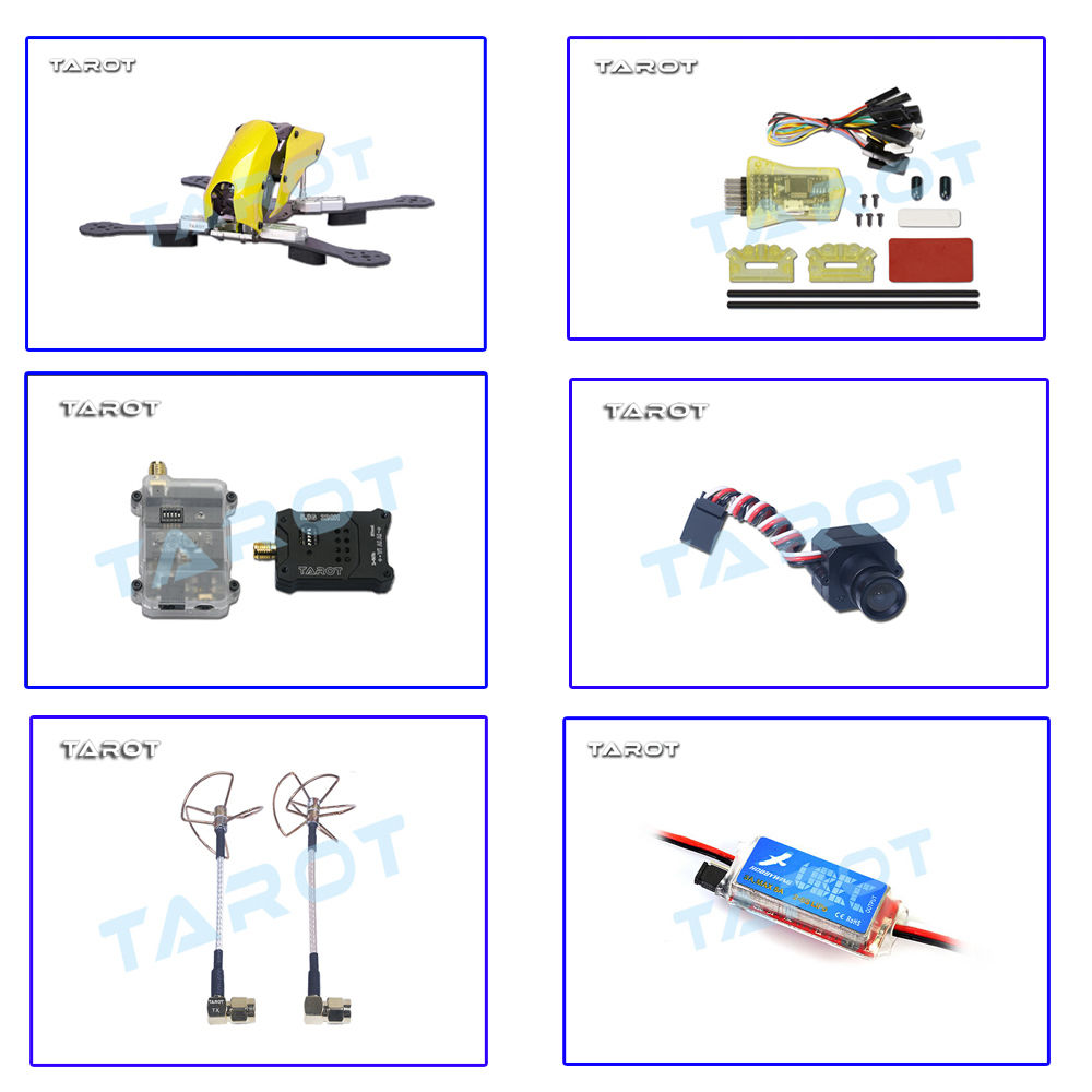 tarot robocat tl250c 250mm carbon fiber quadcopter frame with mini cc3d fc motor esc fpv camera [ 1000 x 1000 Pixel ]