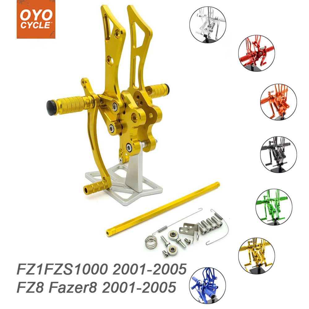 For YAMAHA FZ1 FZ8  2001-2005 Racing Footpegs Rearset Rear Set Rest CNC 2002 03