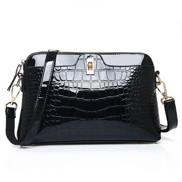2017 Fashion Brand women's bag Ladies luxury PU Patent Leather crossbody Shoulder Bags Women Messenger Bags WB326