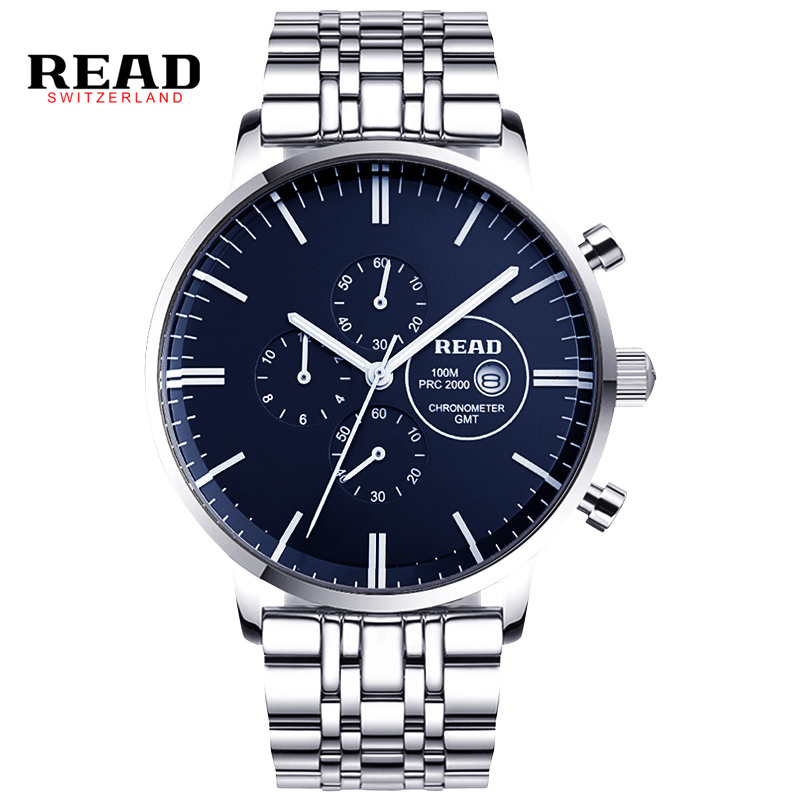READ fashion Watch Men's Watch Multifunctional Chronograph Men's Watch Quartz Watch waterproof and Complete Calendar R7006 new 5 0 touch panel for etuline etl s5042 touch screen digitizer glass sensor replacement parts black color free shipping