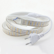 LED Strip Light Waterproof IP67 220V 240V 2835 276led/m Three Row LED Tape 2m 5m 10m Flexible Strips Rope Ruban Warm Cold white