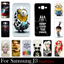 For Samsung Galaxy J3 (2016) Case Hard Plastic Cellphone Mask Case Protective Cover Housing Skin Mask Shipping Free