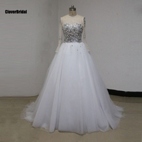 Amazing Stunning Lots Swarovski Crystals Pearls Stones Luxury Wedding Dress 2015 Outstanding Ball Gown Tulle Bridal