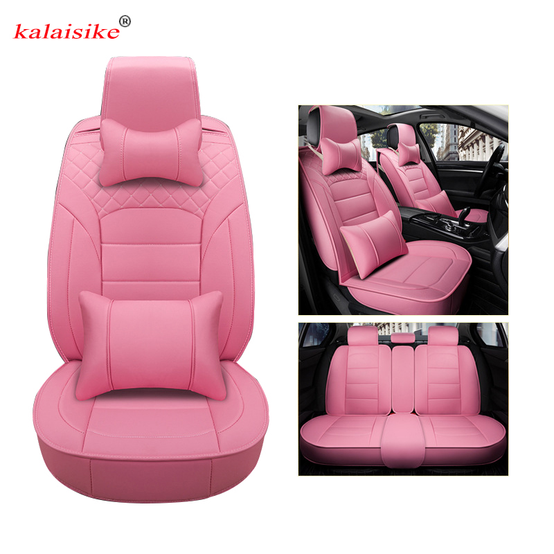 kalaisike leather universal car seat cover for BYD all models G3 F3 F6 L3 G5 e6 G6 car styling automobiles accessories шильдик g5 g6 f3 l3 l6 f6 fo s6