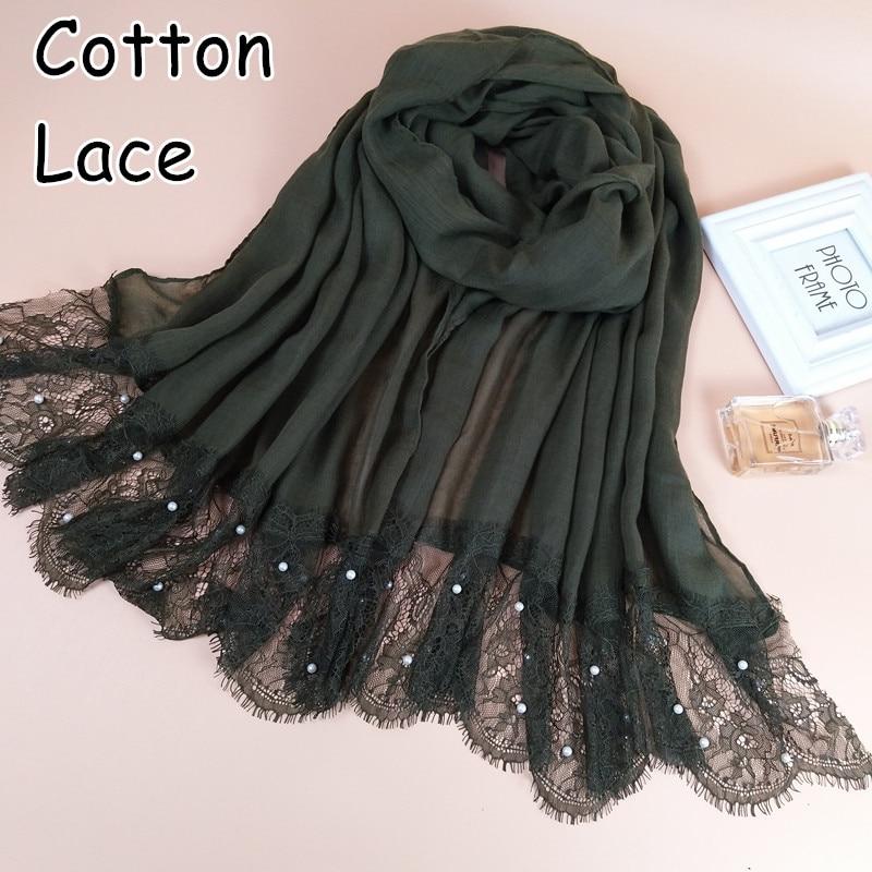 M2 High Quality Cotton Big Lace Scarf Scarves  Muslim Hijab  Wrap Shawl Shawls Headband  180*90cm 100pcs 1lot