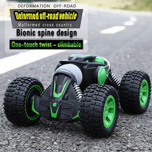 rc car Electric Crawl Road Truck High Speed Racing Climbing Monster Vehicle Transform Stunt Remote Control Deformed off-roadcar 2019 trend 360 degree rotation rc remote control car transform truck off road 4x4 with 5 wheels and light