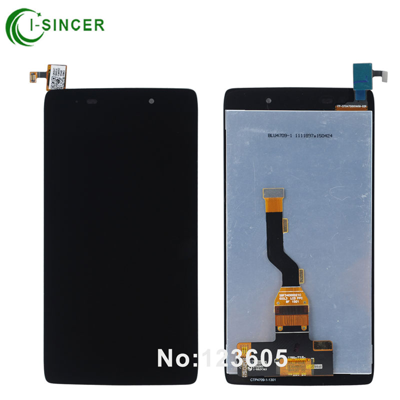 1/PCS LCD Display For Alcatel One Touch Idol 3 6039 OT6039 LCD with Touch Screen Digitizer Assemblely Replacement Black