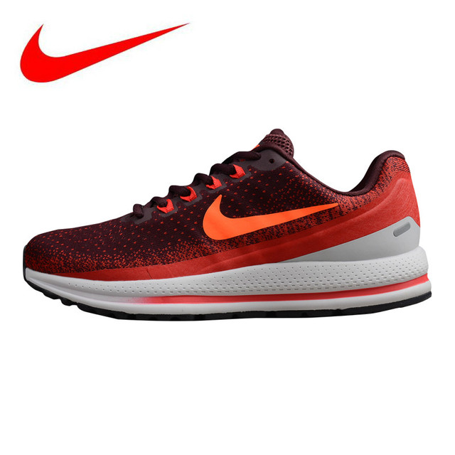 new style ae28a a2b66 Original NIKE AIR ZOOM VOMERO 13 Men s Running Shoes, Red   Black,  Breathable Lightweight Shock Absorption 922909 001 922908 600