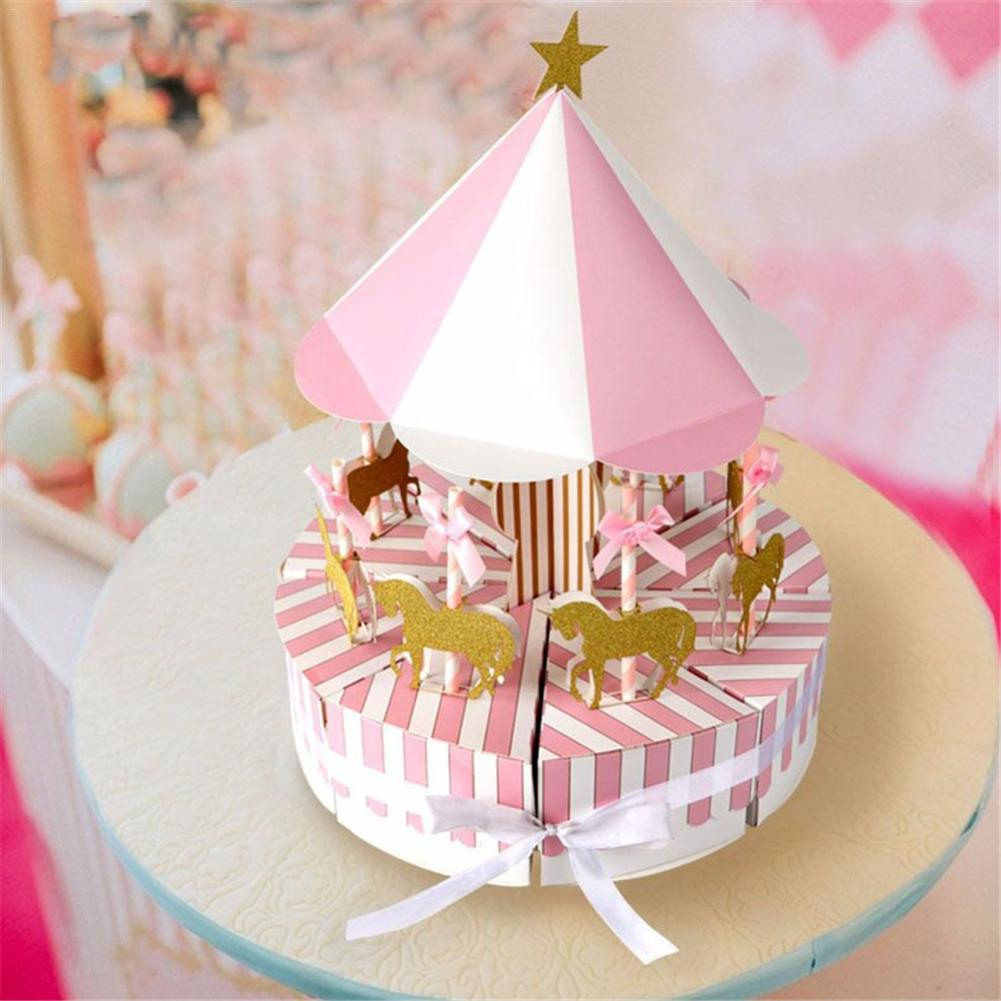 Paper Carousel Gift Box Wedding Favors Gift Souvenir for Guest ...