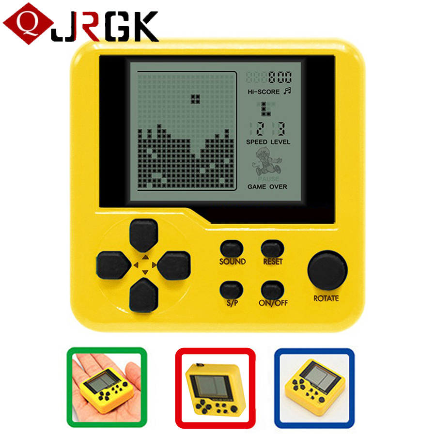 Retro Classic Tetris Handheld Game Player Portable Mini Childhood Games Console Puzzle Educational Electronic Toy For Kids Child