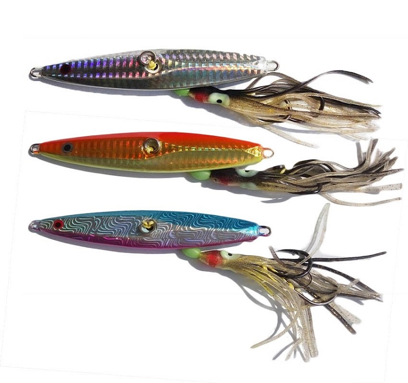 2017UCOK 130g Inchiku lead jigs rig fishlure bait with octopus assist hook boat slow casting sea butterfly jigging lure bait mikado octopus rig blue white 12cm 7 0 3