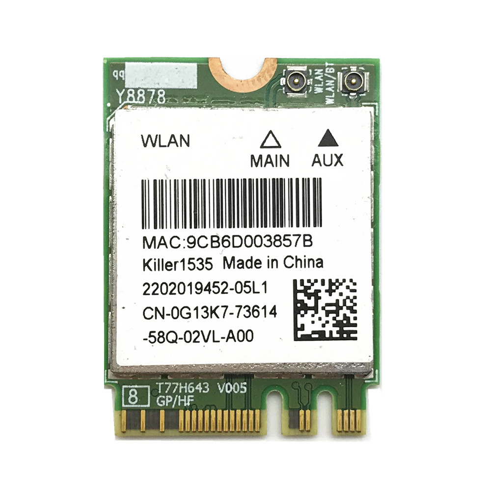 Killer 1535 867Mbps Killer1535 Bluetooth 4.1 NGFF M.2 WiFi Network Card For GE72/GT72/GT80/GS60/GE62P651SE/SG/P650S/T5
