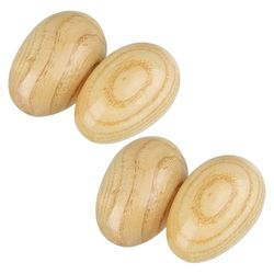 XFDZ-4Pcs Egg Shaker Wood Egg Shakers and Musical Instruments for Baby Percussion Toy and Instrument for Kids and Babies