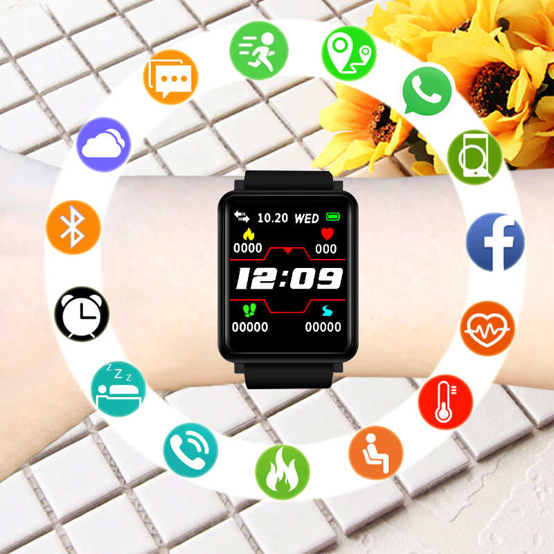 Square Digital Watch Children IP67 Waterproof Digital Clock Remote Camera Kids Sport For Girls Boys Hours Students