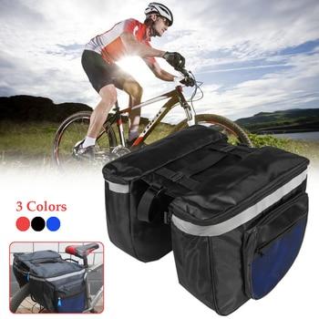 8bc34a26781 Bolsa de sillín de asiento trasero de bicicleta de 20L bolsa de  almacenamiento de cola de Pannier de bicicleta roja/azul/negro con  encuadernación ...