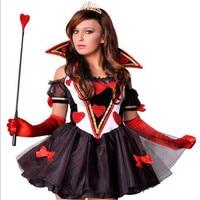 Новинка 2017 высокого качества пикантные покер Queen и костюм принцессы на Хэллоуин Sabrina ведьма вампира DS костюмы показать дьявол костюмы
