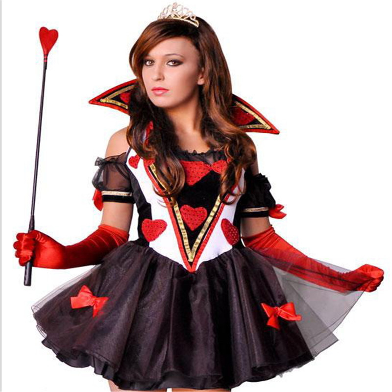 2018 new high quality Sexy Poker Queen and princess Costume Halloween Sabrina Witch vampire DS Costumes show the devil Costumes