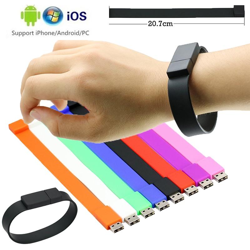 Hand Ring Memory Stick Usb 3.0 Waterproof Usb Flash Drive 128gb 64GB U Disk Key Pendrive 32GB 16GB 8GB Pen Drive Free Adapter