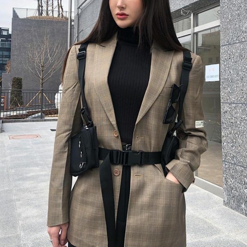 Female Tactical Adjustable Vest Multi-functional Tactical Function Bag Shoulder Messenger Bag Female Wild Sports Pocket Chest Ba