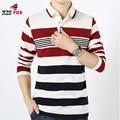 Новая коллекция весна осень мужская Полосы Рубашка Поло с длинным рукавом отложным воротник Случайные Хлопка Рубашки Поло slim fit Camisa топы размер м ~ 4XL