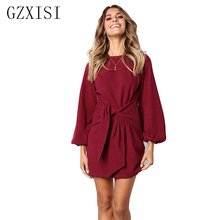 winter dress women autumn vestidos verano 2018 befree robe pull  dresses solid loose sashes casual Fashion short plus size