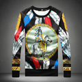 Men's Hoodies spring and autumn 2016 men's fashion Indian printing hedging Hoodies plus size code M-5XL hot sale