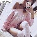 Harajuku Letters Print Sweatshirt Women Pink Hoodie 2017 Long Sleeve Moletom Feminino Loose O Neck Sweat Femme Hoodies C129