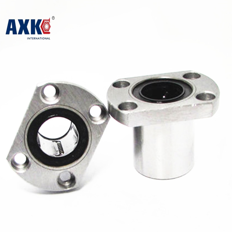 2Pcs/Lot LMH16UU 16mm H Type Flange Linear Motion Bearing Bushing Ball Bearing CNC Parts Brand New lmh20luu 20mm inner dia oval flange mounted linear motion bushing ball bearing