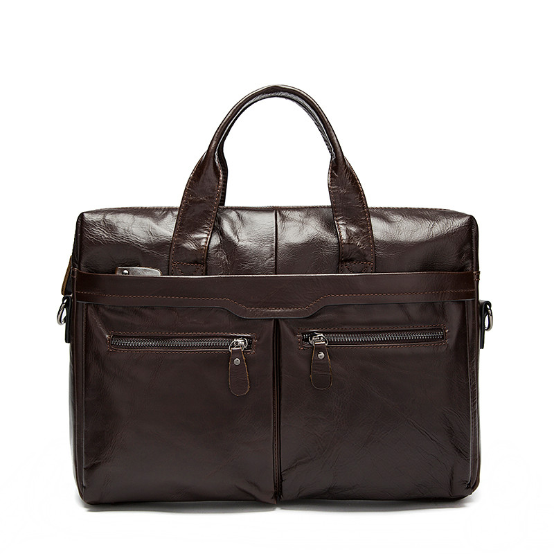 Men Shoulder Bags Genuine Leather Laptop Tote Men Briefcases New Designer Male Men's Crossbody Bag Men Leather Messenger Bags vintage handbag men bag genuine leather briefcases shoulder bags laptop tote men crossbody messenger bags handbags designer bag