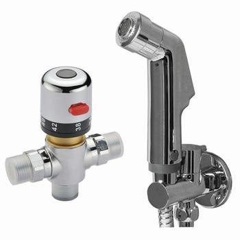 38 degree thermostatic bidet shower Valve abs shower brass valve  Handheld Bidet Shower Spray Douche kit BD485