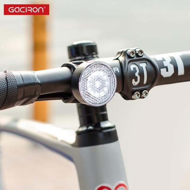 GACIRON W08F-20 אזהרה מול אור 20 Lumens USB נטענת LED מנורת Waterproof אופניים אור אופני אבזרים