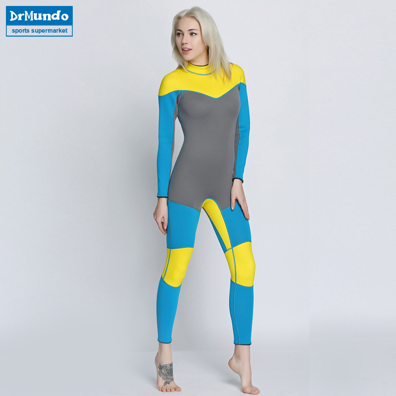 0d4fc21828 Women s Spearfishing Wetsuit 3MM Neoprene SCR Superelastic Diving Suit  Waterproof Warm Professional Surfing Wetsuits Full Suit-in Wetsuit from  Sports ...