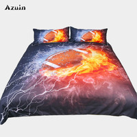 3D Football Printed Queen Comforter Sets Bedding King Twin Size Luxury Bed Cover Duvet Cover Bed