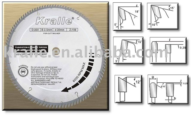 Laser Welded Saw Blade for High Density Board Fire Board Plywood and Harden Wood