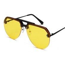 High Quality Round Sunglasses Men Women Fashion Luxury Brand Design Metal Frame