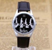 Mignon de Bande Dessinée Montre Le Beatles De Mode Casual en cuir Quartz Montre hommes Femmes Enfants Montre-Bracelet Relogio Feminino Horloge
