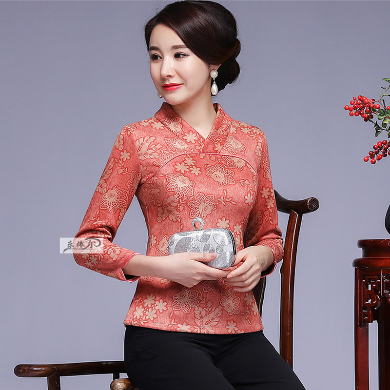 2018 New Autumn Vogue Ladies Shirts Elegant Three Quarter Sleeve Horny V Neck Elegant Informal Blouses Tops Feminine Clothes Blouses & Shirts, Low-cost Blouses & Shirts, 2018 New Autumn...