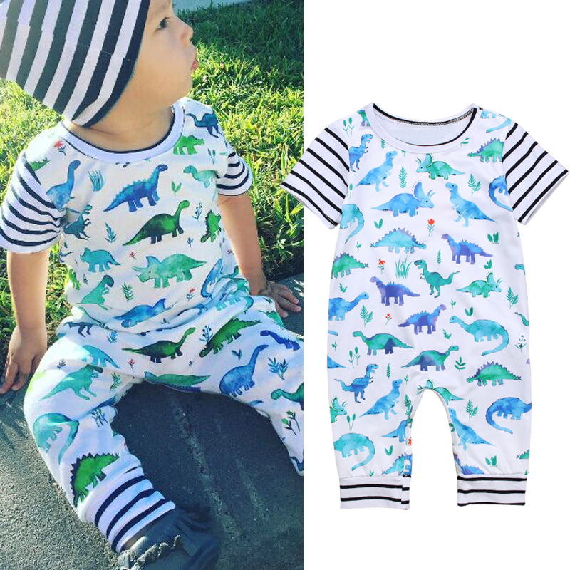 Boys' Baby Clothing Reasonable Cartoon Dinosaur Design Hooded Baby Rompers Newborn Clothing Cotton Long Sleeve Jumpsuits Boys Girls Outerwear Costume Baby Gift