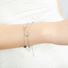 BEST GIFT Silver 925 Star Bracelet for Women Jewelry