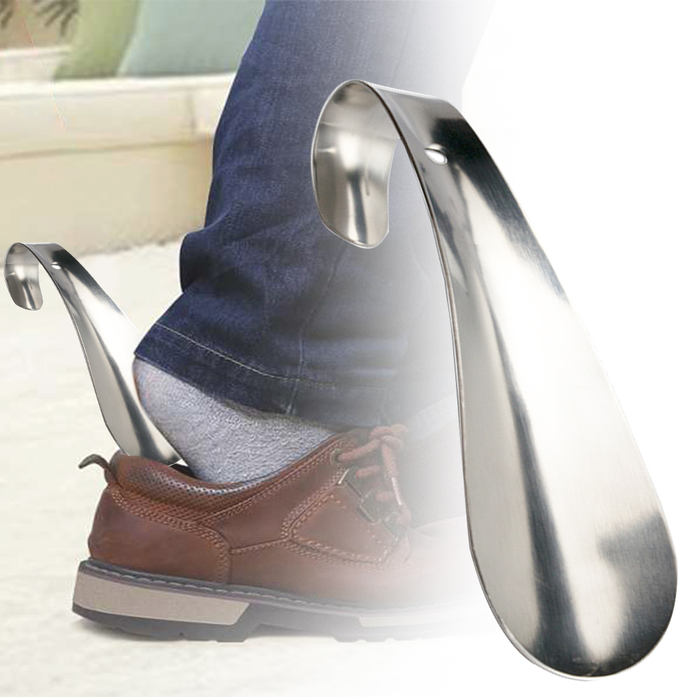 1Pc professional stainless steel silver metal shoe horn spoon shoehorn 14.5cm P*