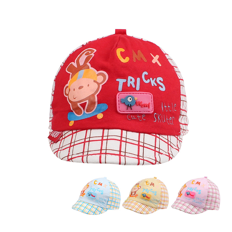 6015758344a Cotton Newborn Baby Hats Cute Infant Boys Cap Fashion Baseball Caps Infant  Character Beanies Girl Summer Baby Hat Baby Clothing -in Hats   Caps from  Mother ...