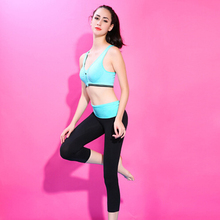 NEW Women's Yoga sets  bras with pants suits Stretch Vest elastic waist pants lady dancing running Fitness sportswear suit