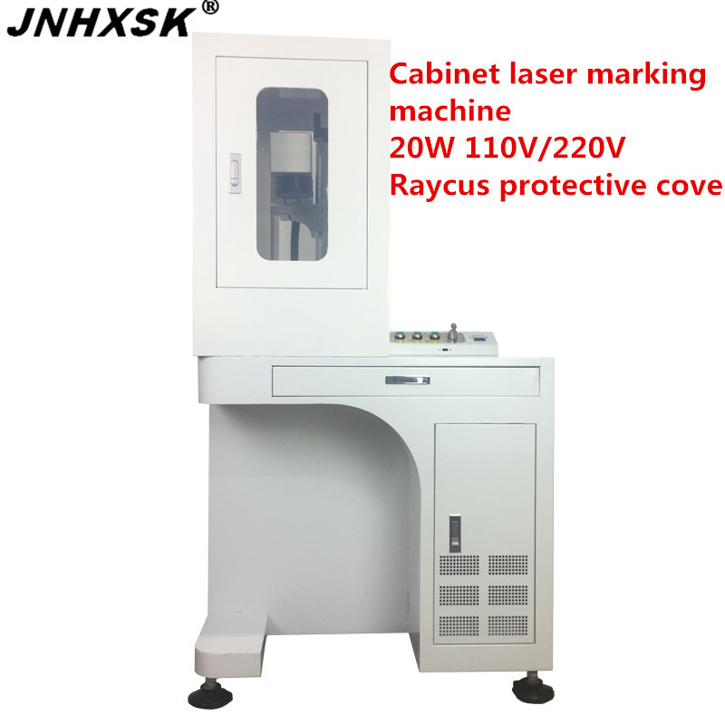 JNHXSK high quality <font><b>20W</b></font> fiber <font><b>laser</b></font> marking machine engraving <font><b>cutting</b></font> 110x110/150x150/200x200mm EZCAD software Raycus source image