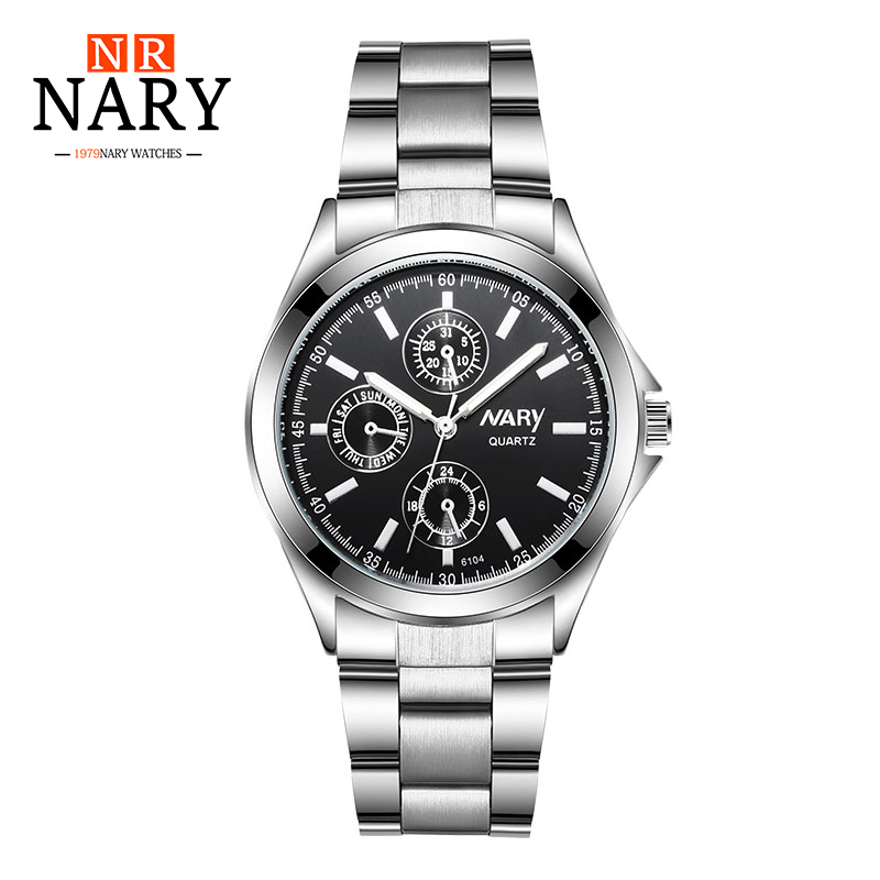 NARY Luxury Brand Women Watch Stainless Steel Ladies Quartz Watches For woman Fashion Lady Wristwatches Girls Watch Reloj Mujer 2017 julius fashion top luxury women watch waterproof ladies quartz wristwatches dress stainless steel reloj mujer clock gift