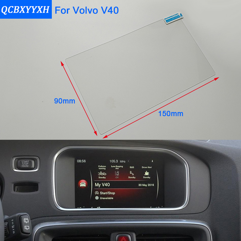 US $12 99 15% OFF|Car Styling 7 Inch GPS Navigation Screen Steel Glass  Protective Film For Volvo V40 Control of LCD Screen Car Sticker-in  Automotive