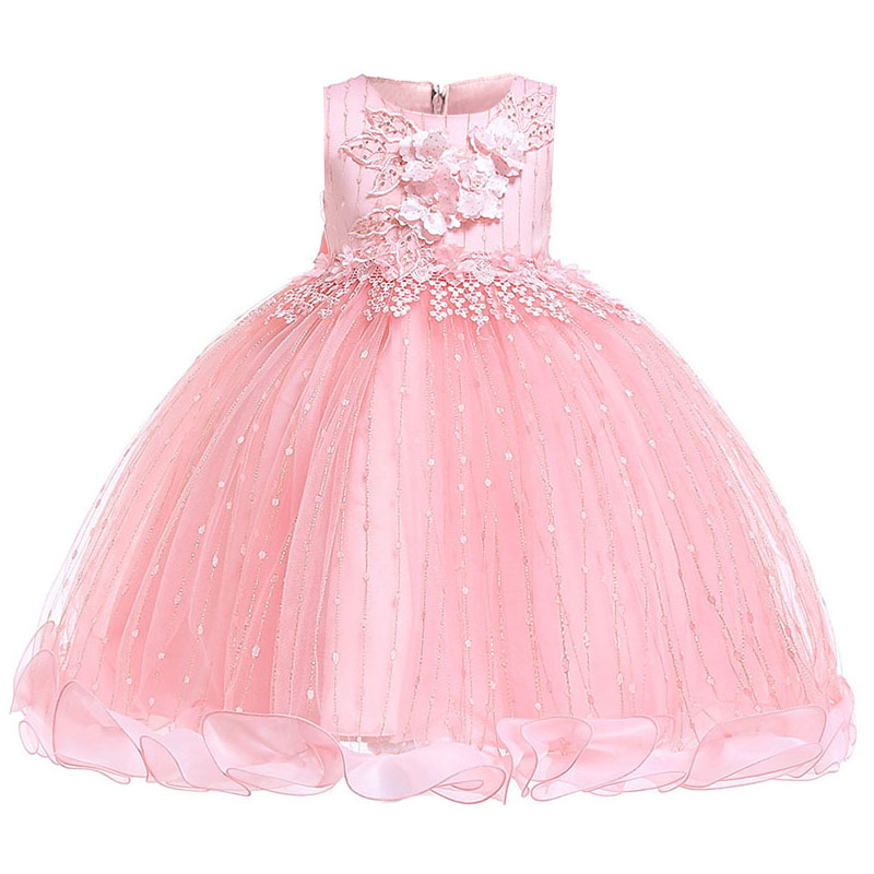 First communion   dress   retail princess prom party clothing elegant   flower     girls     dress   formal birthday   dress   baby costume L5101