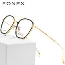 4b8d365e51 B gafas de titanio puro montura hombres 2018 acetato ultraligero gafas  cuadradas miopía gafas ópticas de prescripción