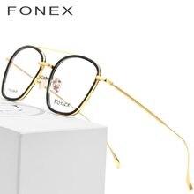 5173e2e2f1 B gafas de titanio puro montura hombres 2018 acetato ultraligero gafas  cuadradas miopía gafas ópticas de prescripción